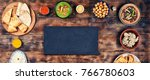 assorted indian food on a...   Shutterstock . vector #766780603