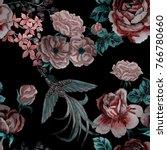 fashion print. watercolor... | Shutterstock . vector #766780660