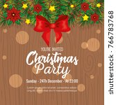 invitation to christmas party | Shutterstock .eps vector #766783768