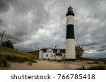 storm on the horizon. dark... | Shutterstock . vector #766785418