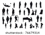 silhouettes of different people ... | Shutterstock . vector #76679314