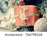 christmas decoration background.... | Shutterstock . vector #766798228