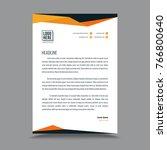letterhead template design | Shutterstock .eps vector #766800640