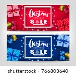 christmas holiday sale... | Shutterstock .eps vector #766803640