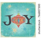 vintage christmas ornament... | Shutterstock .eps vector #766807300