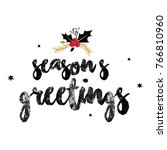 seasons greetings word 01 | Shutterstock .eps vector #766810960