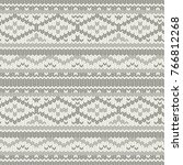knitted vector pattern with... | Shutterstock .eps vector #766812268