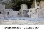 ancient cliff dwellings at mesa ... | Shutterstock . vector #766818454