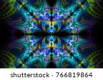 Abstract Fractal Background....
