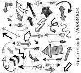 arrow drawing set | Shutterstock .eps vector #766834804