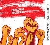 propaganda background style... | Shutterstock .eps vector #766846810