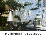 plastic silver colored bell on...   Shutterstock . vector #766865890
