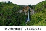 sipisopiso waterfall at tonging ... | Shutterstock . vector #766867168