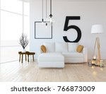 white scandinavian room... | Shutterstock . vector #766873009