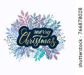 vector lettering merry... | Shutterstock .eps vector #766878028