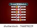 world cup russia 2018. match... | Shutterstock .eps vector #766878229