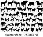 Stock vector farm animals 76688170