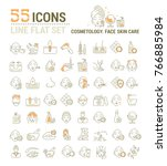 vector graphic set. icons in... | Shutterstock .eps vector #766885984