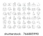 vector graphic set. icons in... | Shutterstock .eps vector #766885990