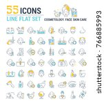 vector graphic set. icons in... | Shutterstock .eps vector #766885993