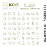 vector graphic set. icons in... | Shutterstock .eps vector #766885996