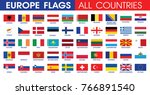 european countries all official ... | Shutterstock .eps vector #766891540