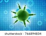 3d rendering viruses in... | Shutterstock . vector #766894834