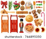 Christmas Items Isolated On...
