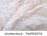 a soft white  plush micro... | Shutterstock . vector #766902076
