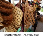 reed and rush ware in sri lanka.... | Shutterstock . vector #766902550