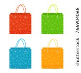 colorful christmas paper bags... | Shutterstock .eps vector #766904068