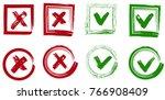 tick and cross vector signs.... | Shutterstock .eps vector #766908409