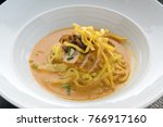 egg noodle in chicken curry | Shutterstock . vector #766917160