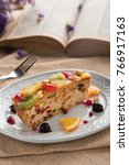 rum fruit cake | Shutterstock . vector #766917163