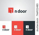 in door business logo design... | Shutterstock .eps vector #766921483