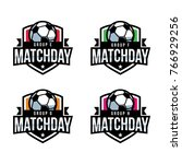 match day soccer logo  american ... | Shutterstock .eps vector #766929256