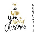 merry christmas happy new year... | Shutterstock .eps vector #766930339