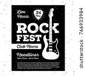 poster for a rock music... | Shutterstock .eps vector #766933984