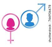 male and female gender symbols. ... | Shutterstock .eps vector #766936678