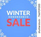 simple winter sale card...   Shutterstock . vector #766939300