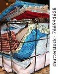 miscellaneous cloth napkins in... | Shutterstock . vector #766941628