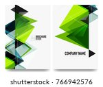 business brochure cover layout  ... | Shutterstock .eps vector #766942576