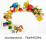 christmas decorations isolate... | Shutterstock . vector #766945396