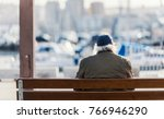 old man  not recognizable ... | Shutterstock . vector #766946290