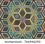 colorful vintage seamless... | Shutterstock .eps vector #766946293