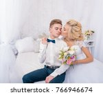wedding studio shoot with decor ... | Shutterstock . vector #766946674