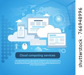 cloud computing services... | Shutterstock .eps vector #766948996