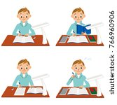 boy you are studying   Shutterstock .eps vector #766960906