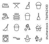 thin line icon set   iron ...   Shutterstock .eps vector #766962430