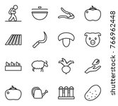thin line icon set   tourist ... | Shutterstock .eps vector #766962448